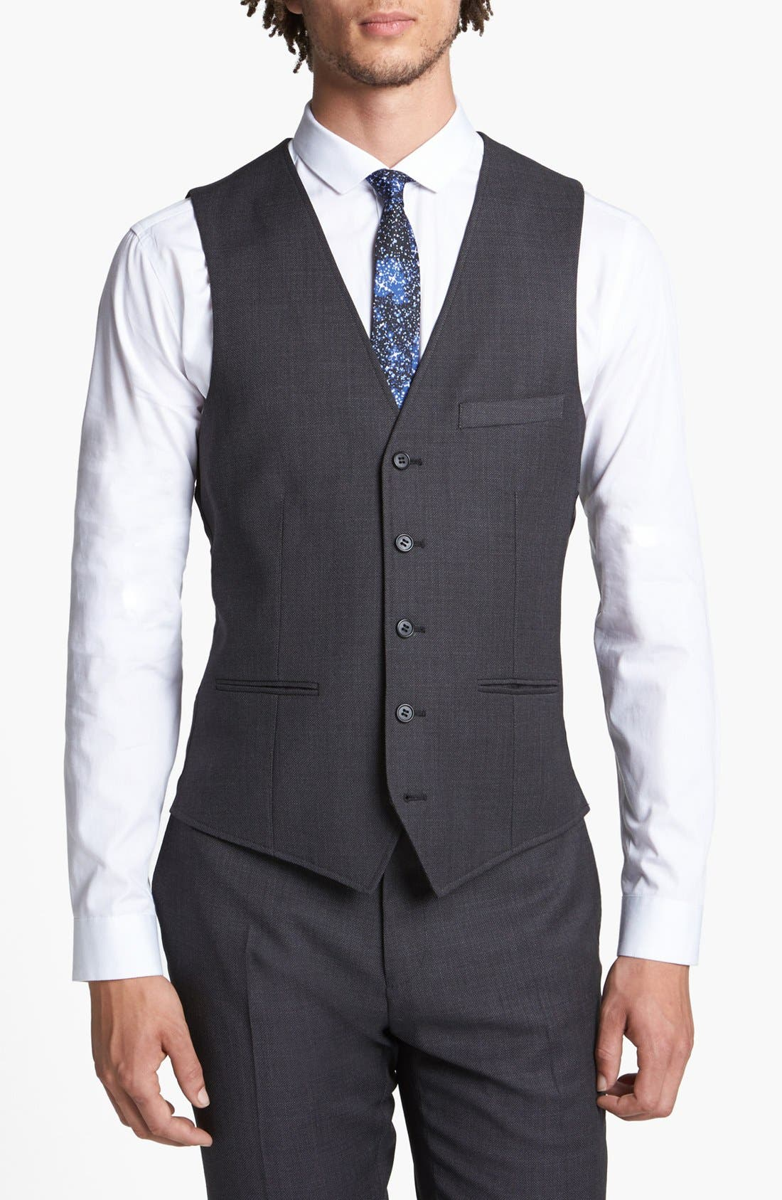 Alternate Image 1 Selected - Topman Slim Fit Vest