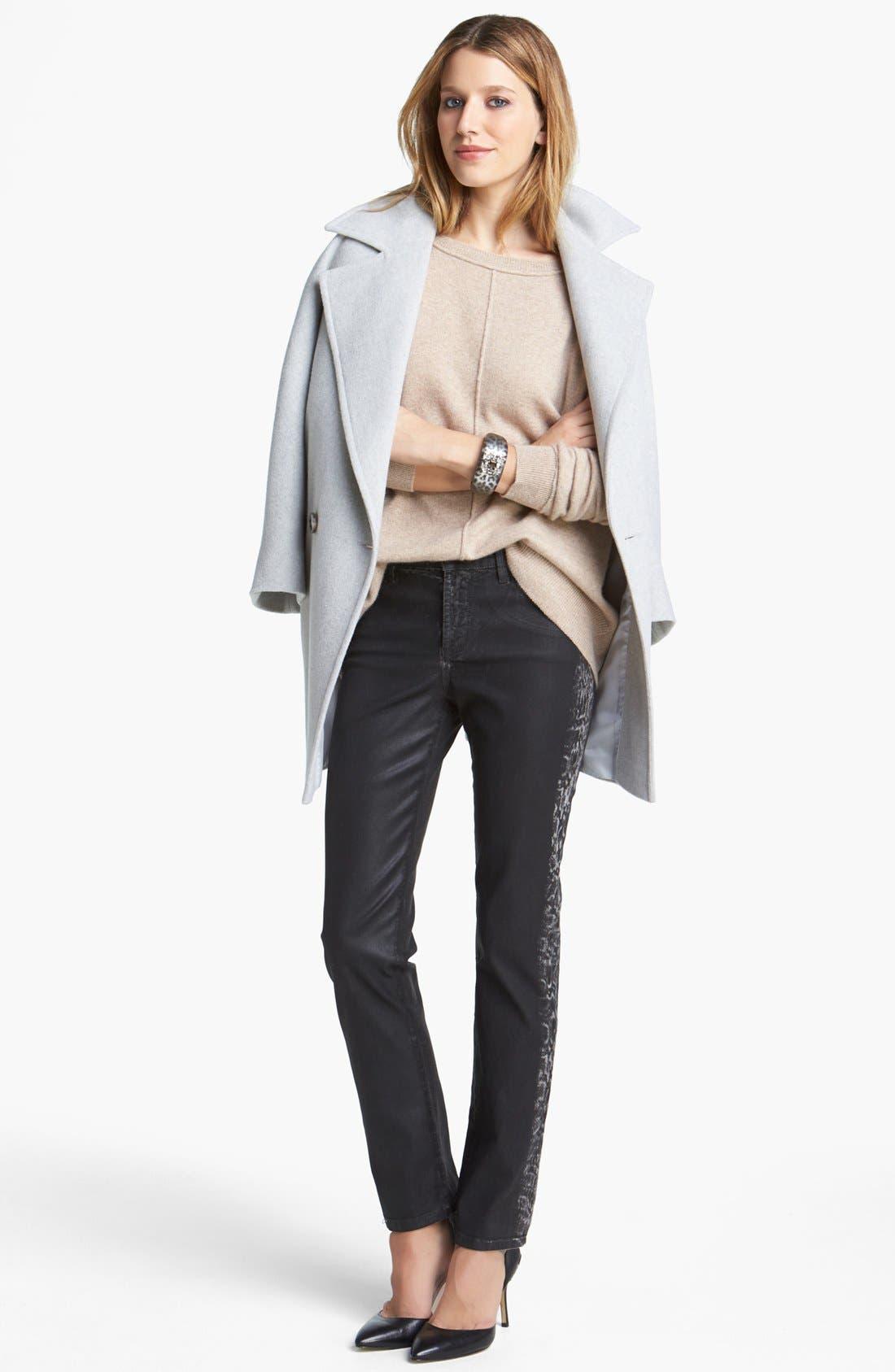 Alternate Image 4  - Helene Berman Oversize Bracelet Sleeve Coat (Online Only)