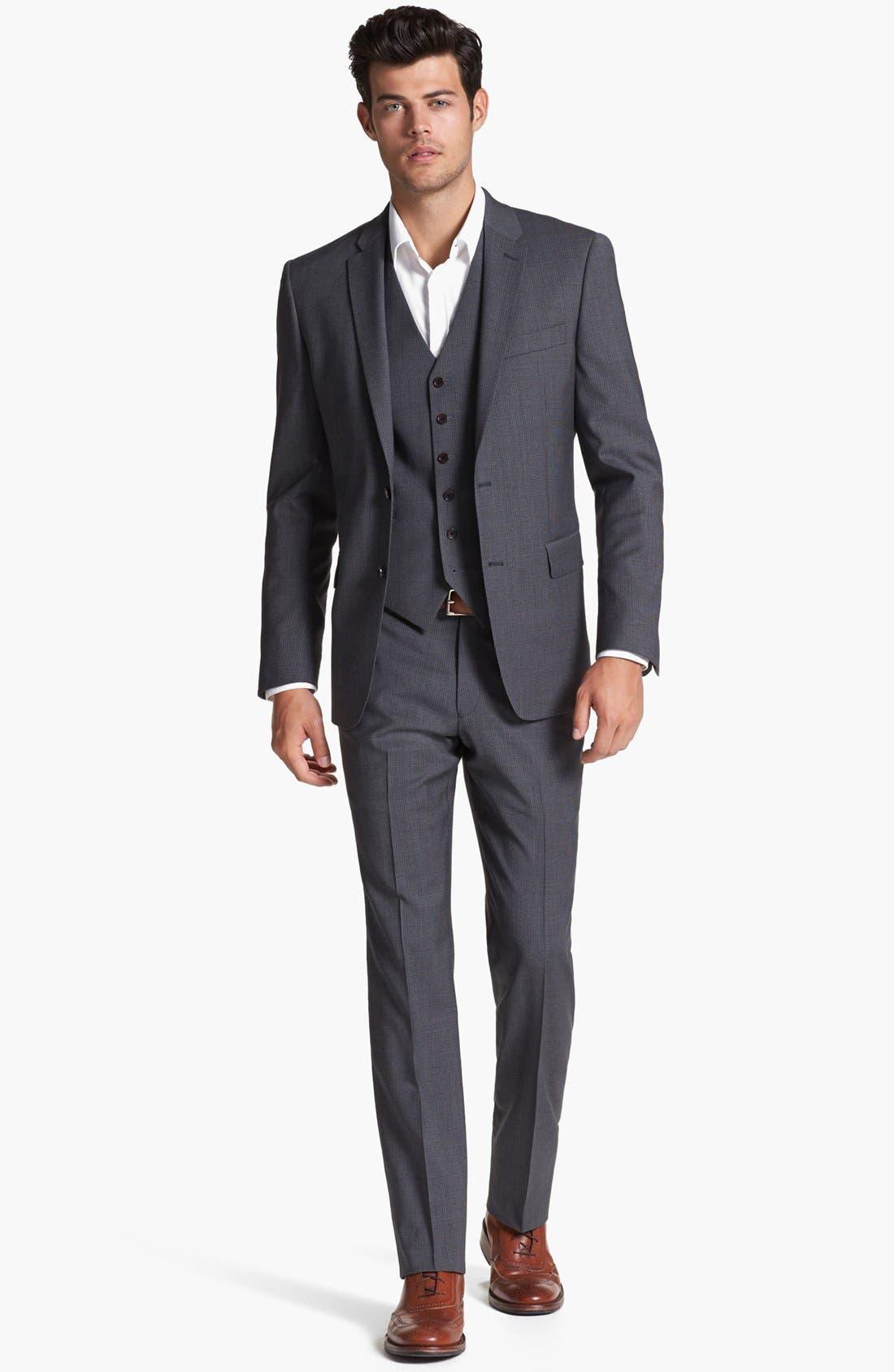 Alternate Image 4  - John Varvatos Star USA 'Townshend' Trim Fit Check Sportcoat