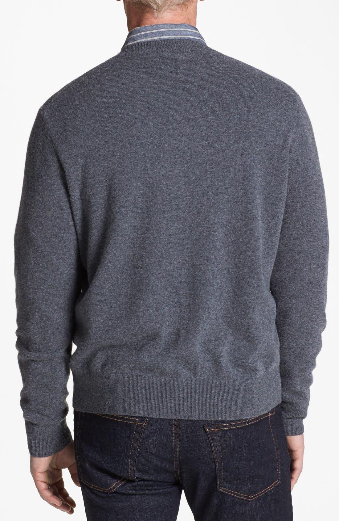 Alternate Image 2  - Cutter & Buck 'Lake Union' V-Neck Sweater