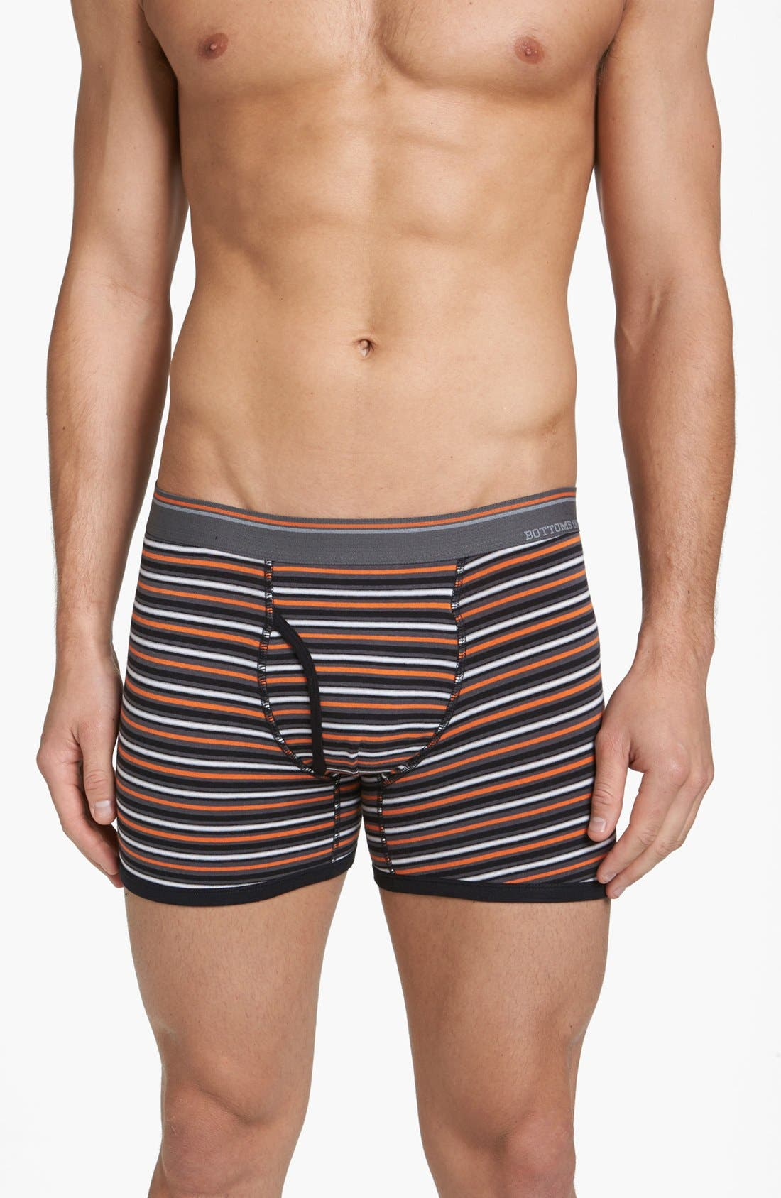 Alternate Image 3  - Basic Underwear 'Bottoms Out' Stripe Boxer Briefs (3-Pack)