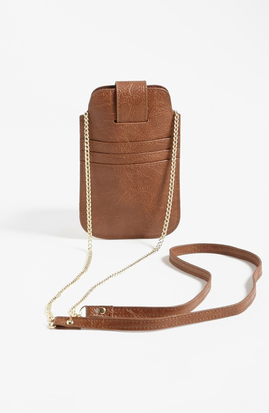 Alternate Image 3  - T-shirt & Jeans Studded Faux Leather Crossbody Pouch (Juniors)