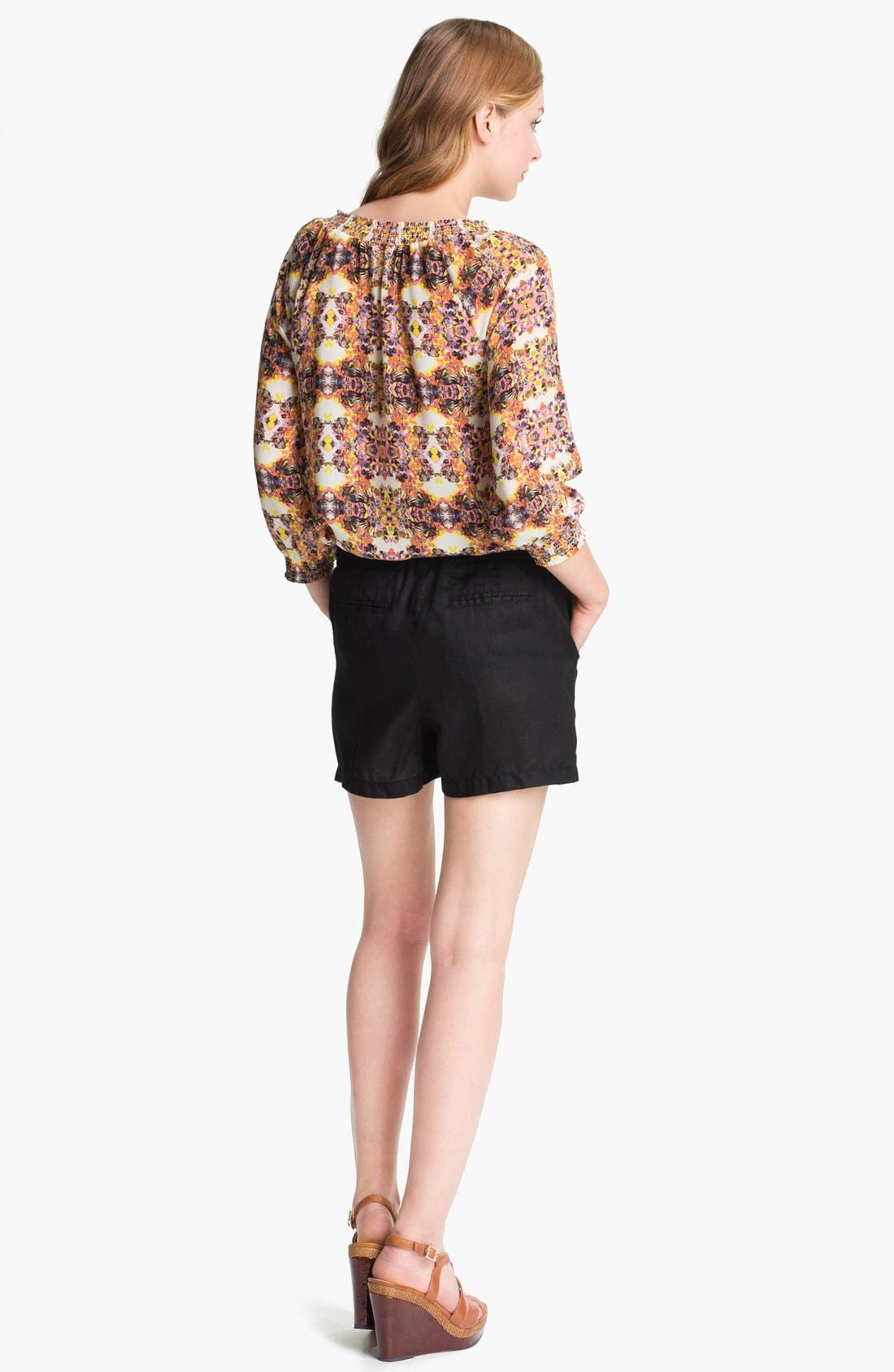 Alternate Image 3  - Caslon® Three Quarter Sleeve Peasant Blouse (Petite)