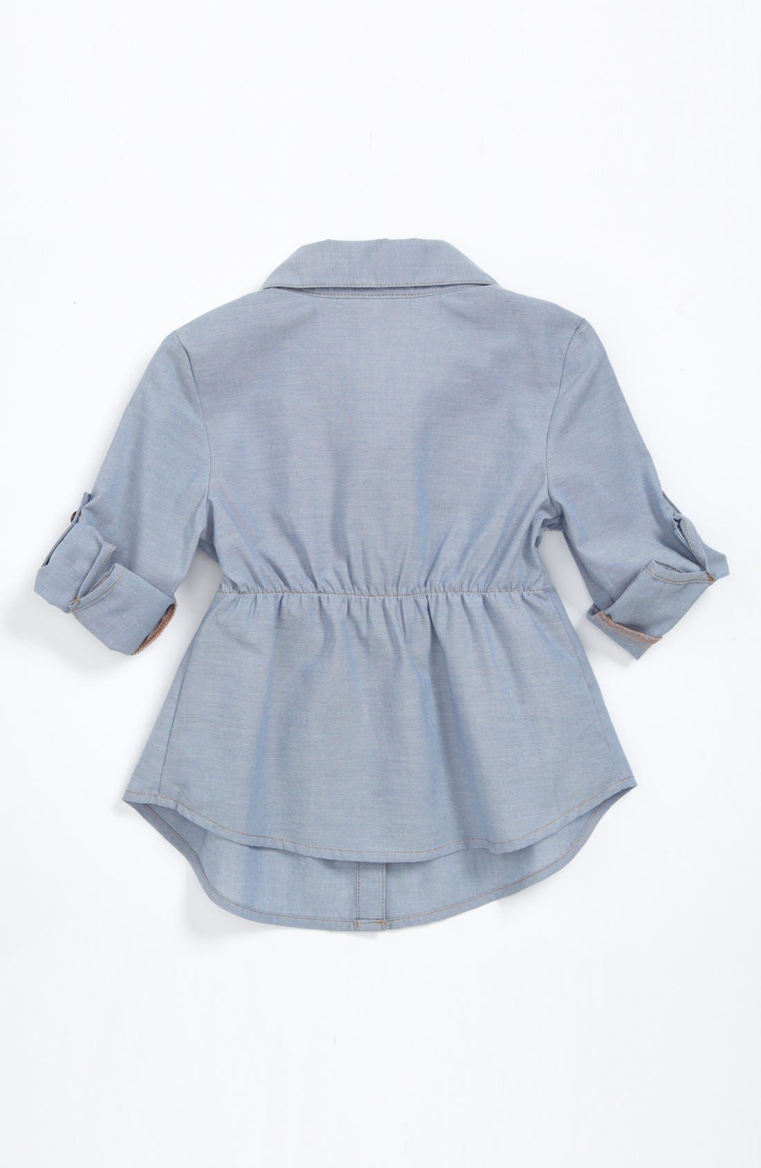 Alternate Image 2  - Little Pretties Chambray Tunic (Toddler Girls)