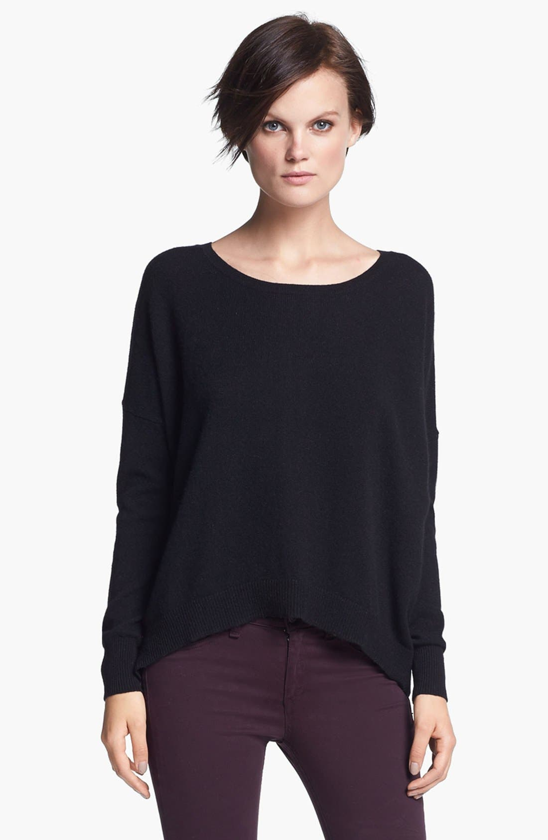 Main Image - autumn cashmere Back Zip Cashmere Sweater