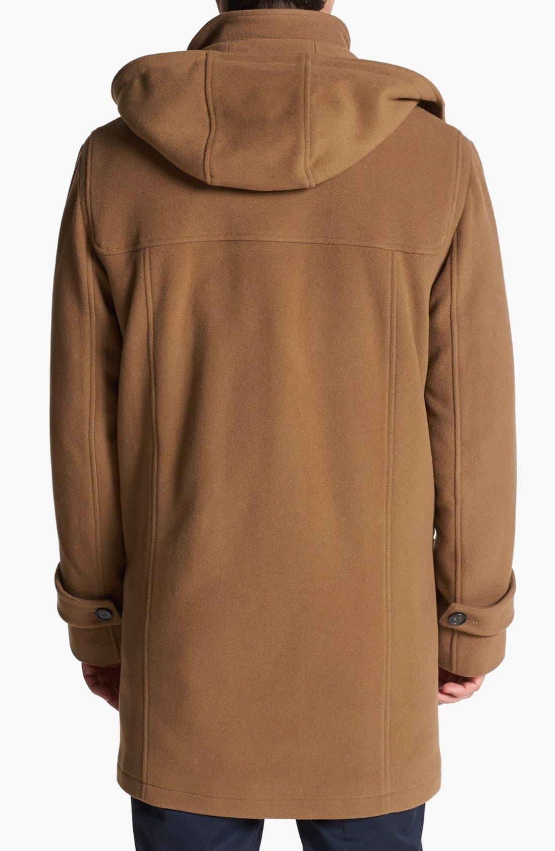 Alternate Image 2  - Cole Haan Wool Blend Duffle Coat