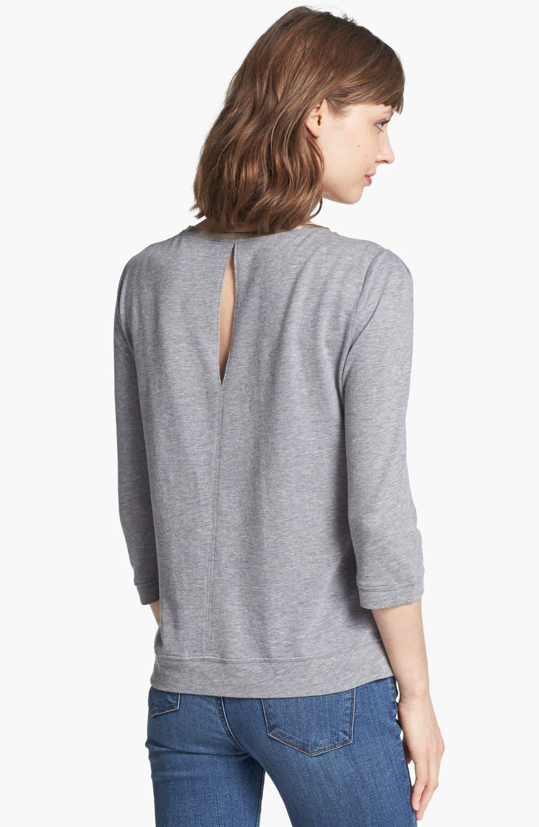 Alternate Image 2  - Hinge® Lace Overlay Sweatshirt
