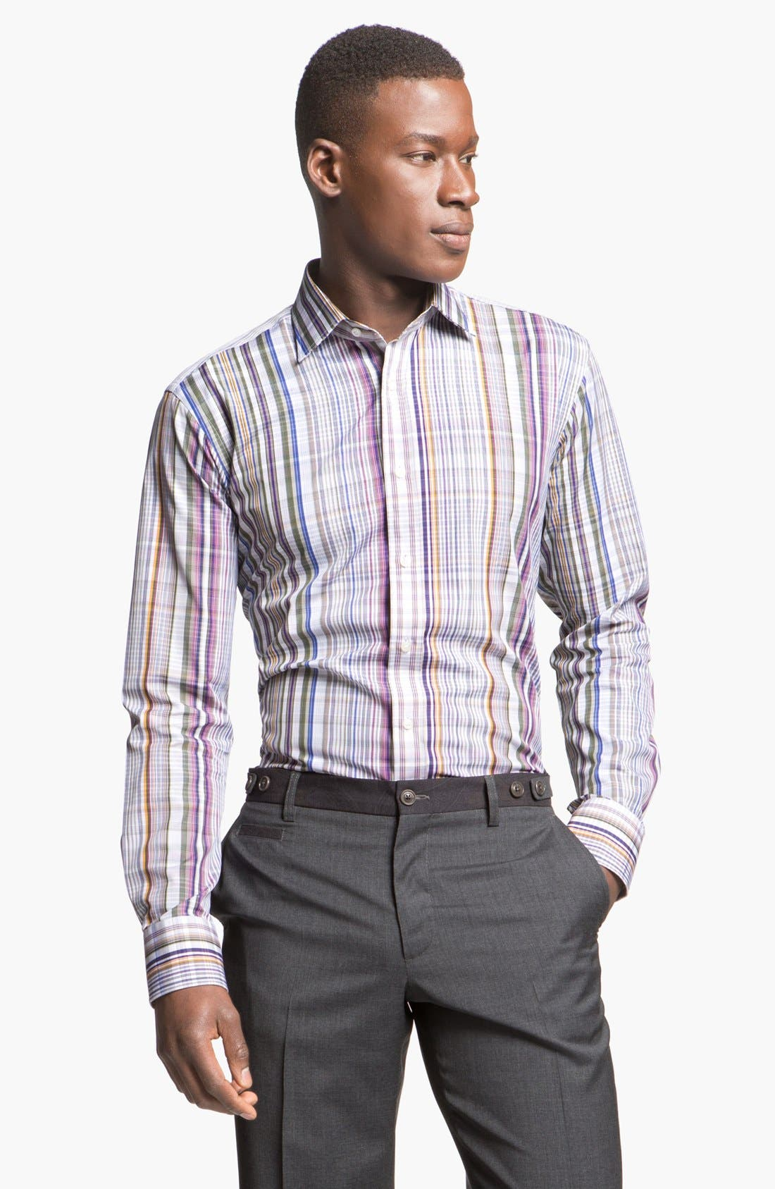 Main Image - Etro Plaid Cotton Shirt