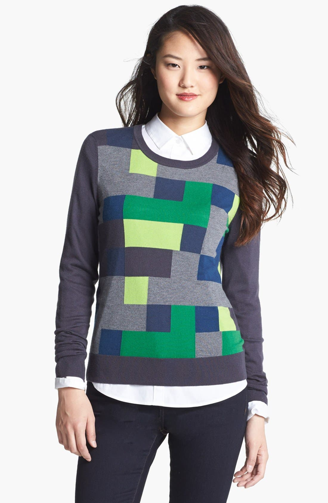 Alternate Image 3  - Halogen® 'Ava' Intarsia Sweater