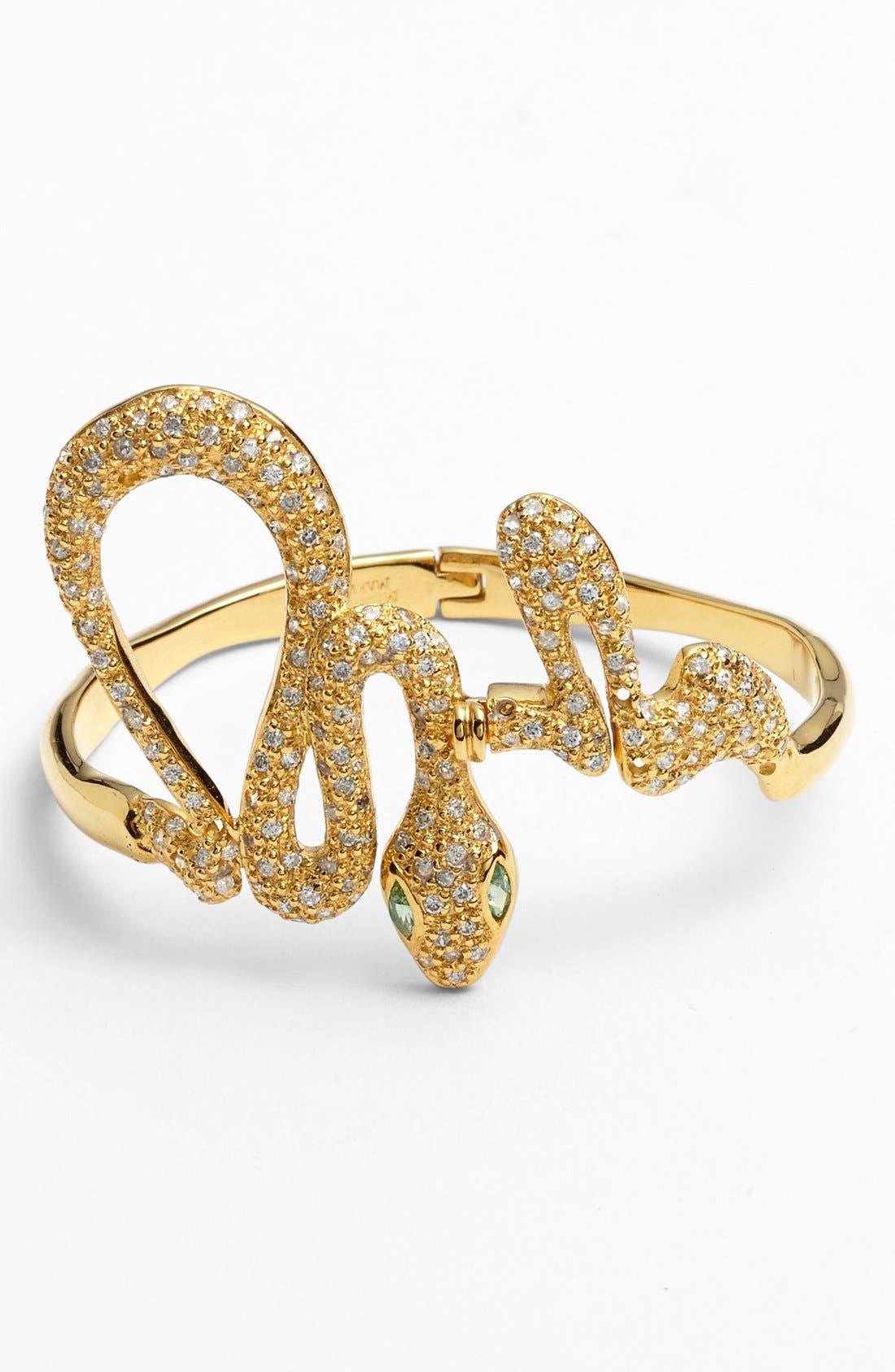 Main Image - Melinda Maria 'Serpent' Hinged Bracelet (Online Only)