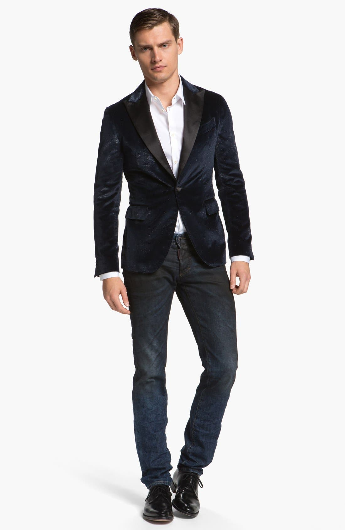 Alternate Image 4  - Dsquared2 Glitter Velvet Dinner Jacket with Satin Peak Lapels