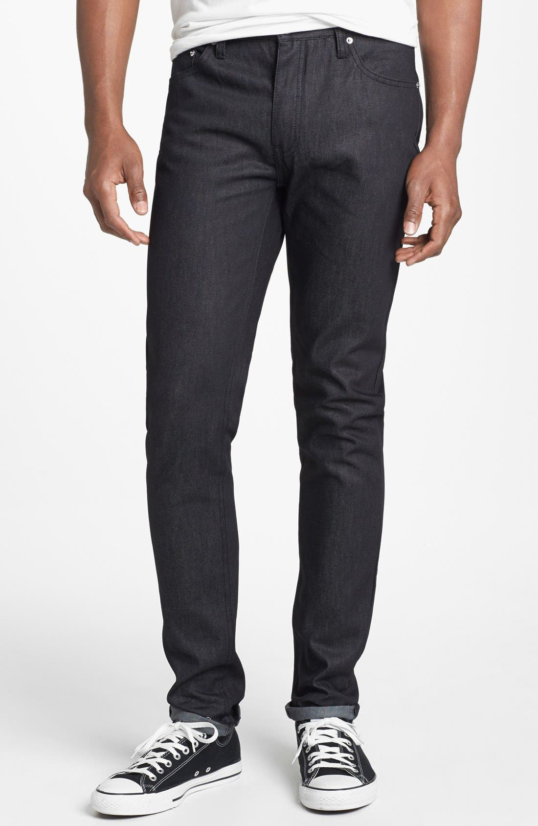 Alternate Image 2  - Cheap Monday 'Four' Slim Straight Leg Jeans (Dry Black)