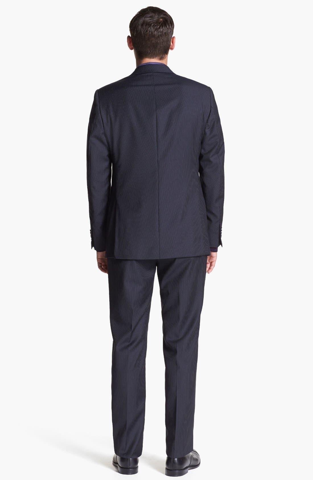 Alternate Image 2  - Michael Kors Stripe Suit & Ted Baker London Sweater