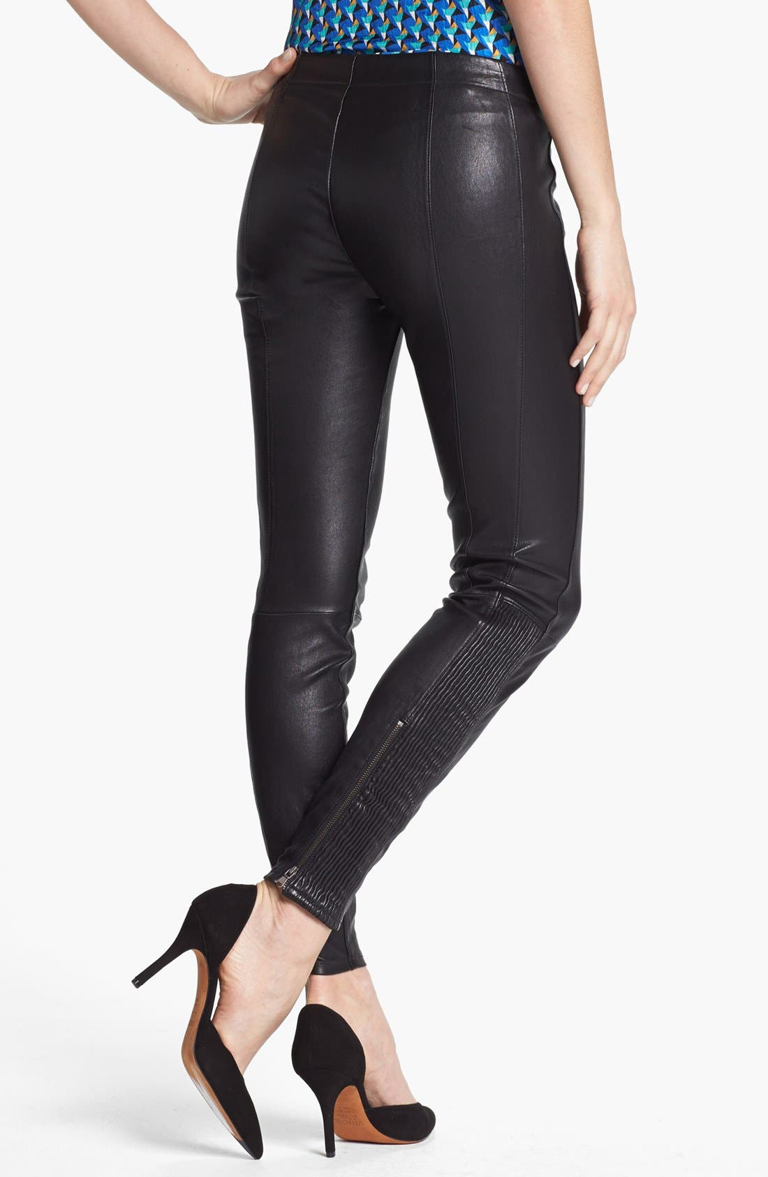 Alternate Image 2  - MARC BY MARC JACOBS 'Lena' Leather Leggings