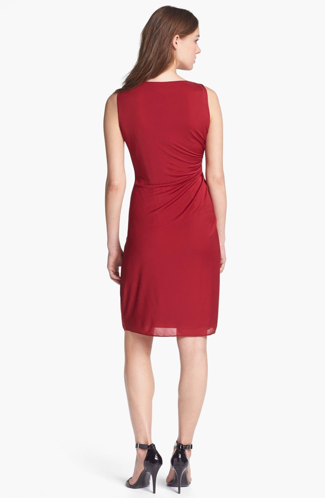 Alternate Image 2  - Adrianna Papell Side Drape Sheath Dress