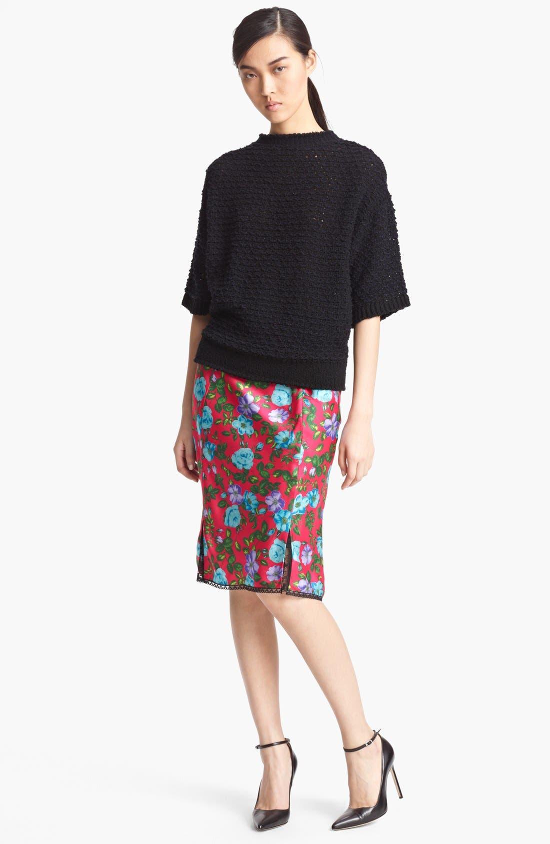 Alternate Image 3  - Nina Ricci Lace Detail Print Silk Skirt