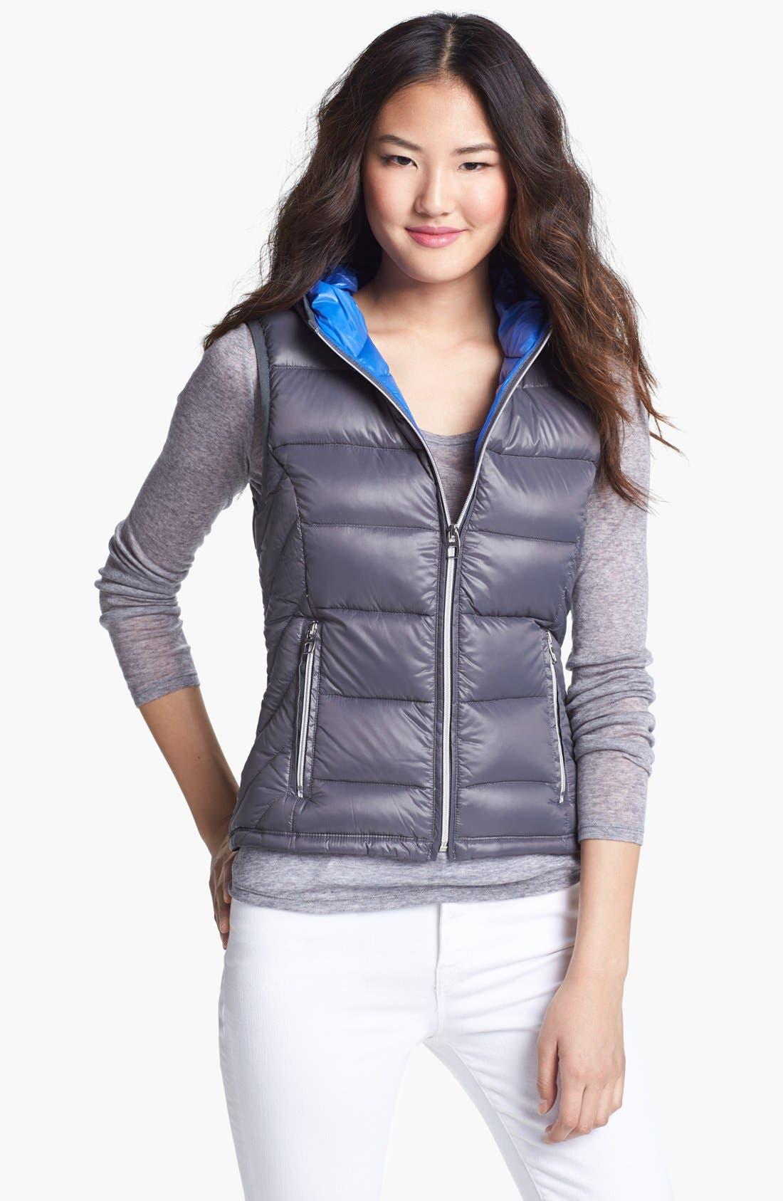 Alternate Image 1 Selected - London Fog Hooded Packable Down Vest (Online Only)