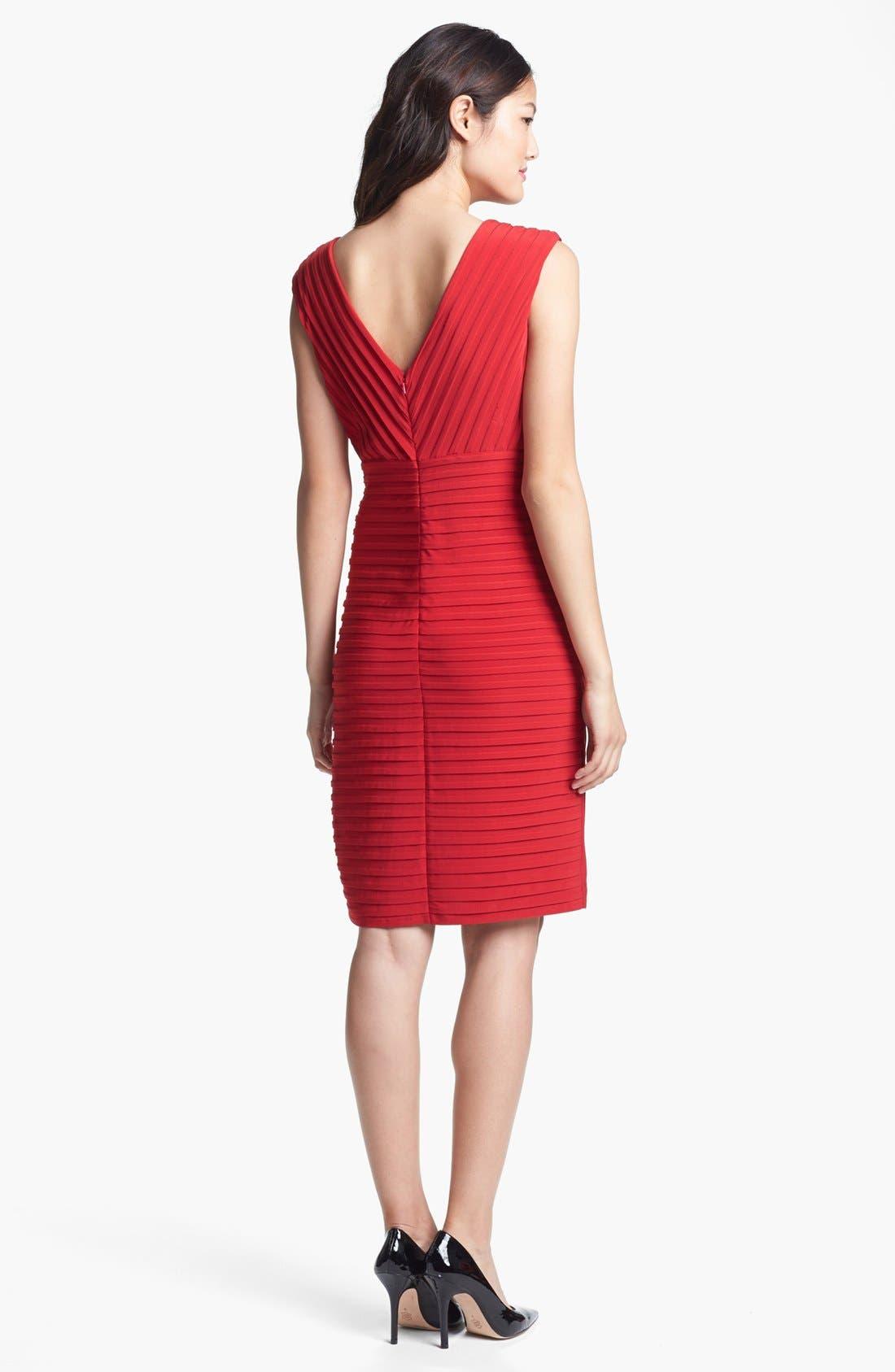 Alternate Image 2  - Adrianna Papell Pintuck Jersey Sheath Dress