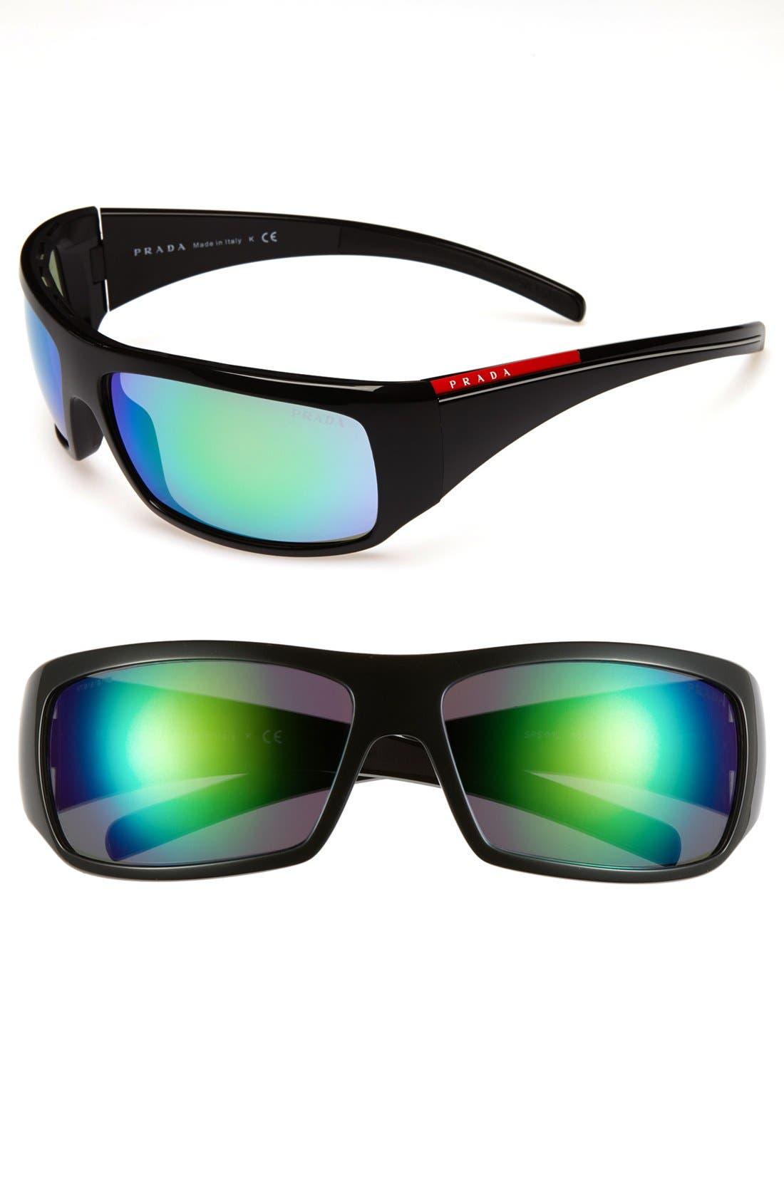 Main Image - Prada 'America's Cup Collection' 65mm Wraparound Sunglasses