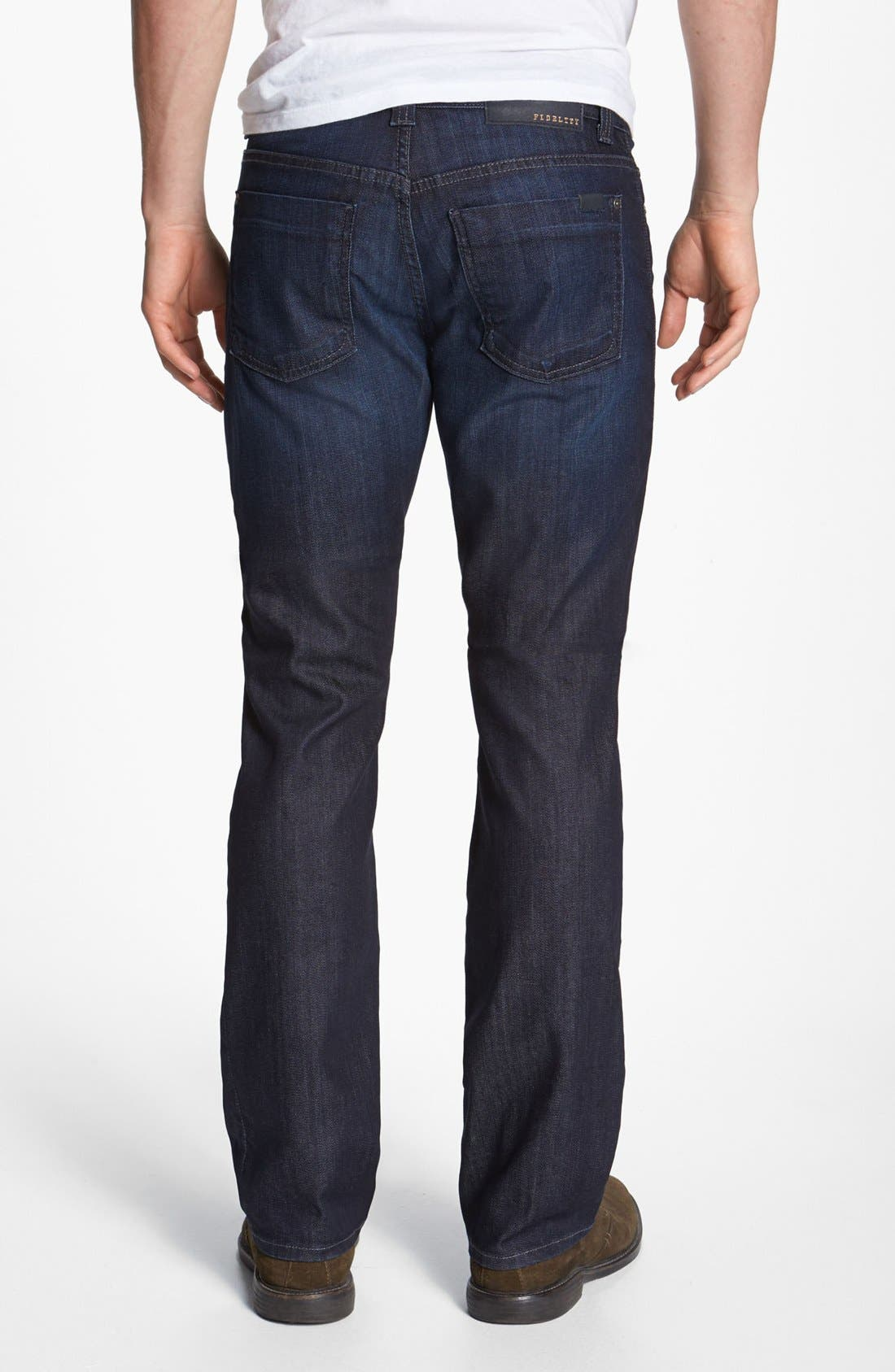 Alternate Image 2  - Fidelity Denim 'Impala' Straight Leg Jeans (Lennon Dark Wash)