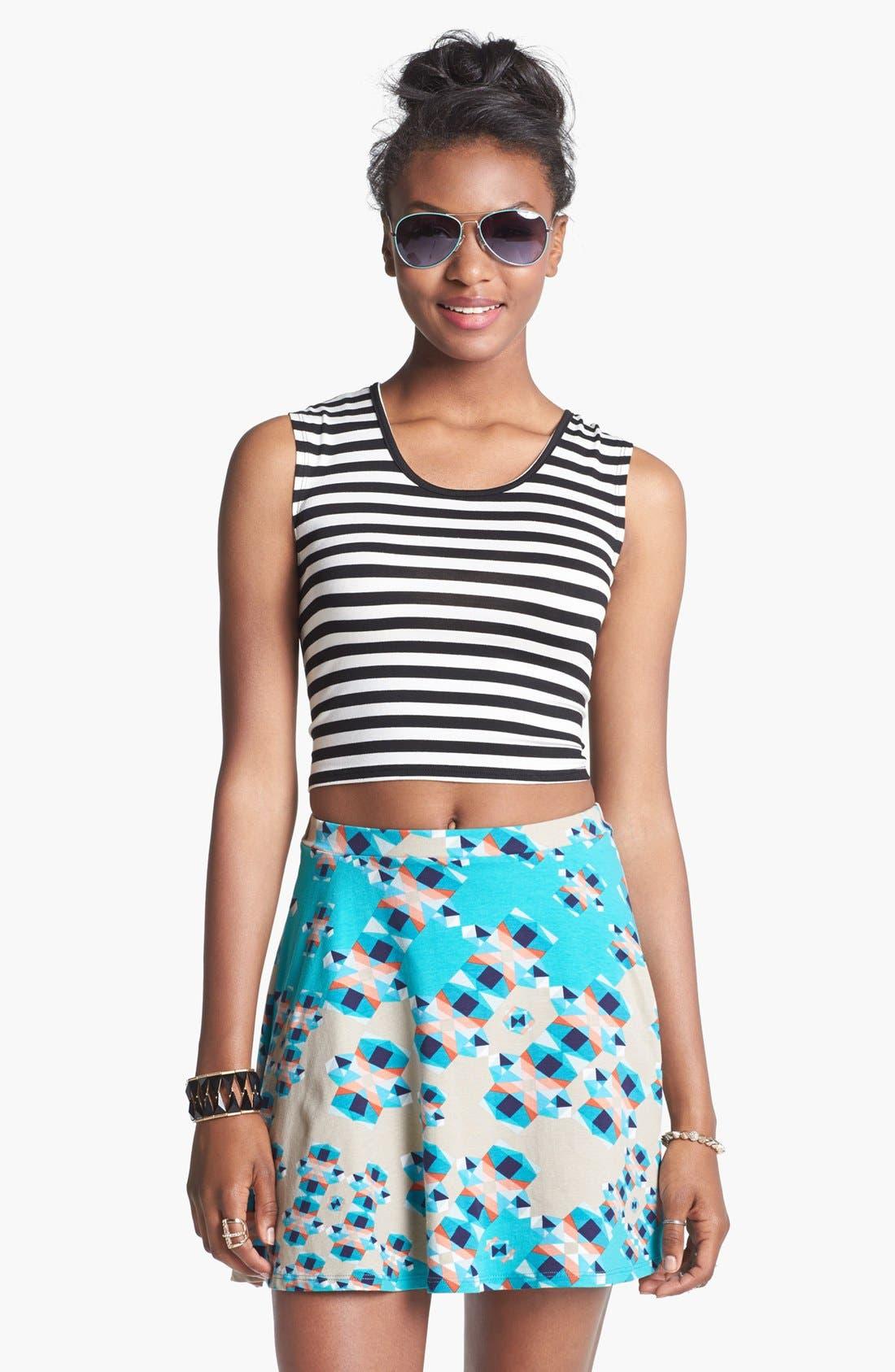 Main Image - Lily White Skater Skirt (Juniors)