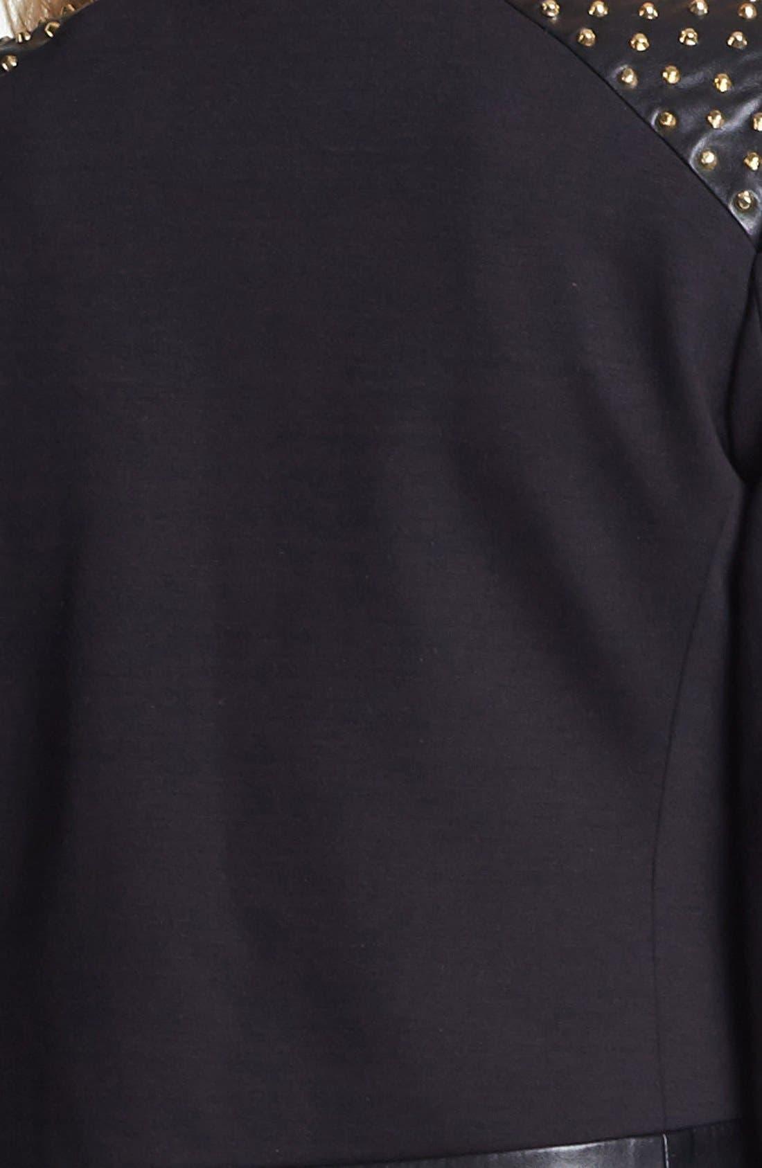 Alternate Image 3  - Vince Camuto Studded Faux Leather Trim Jacket