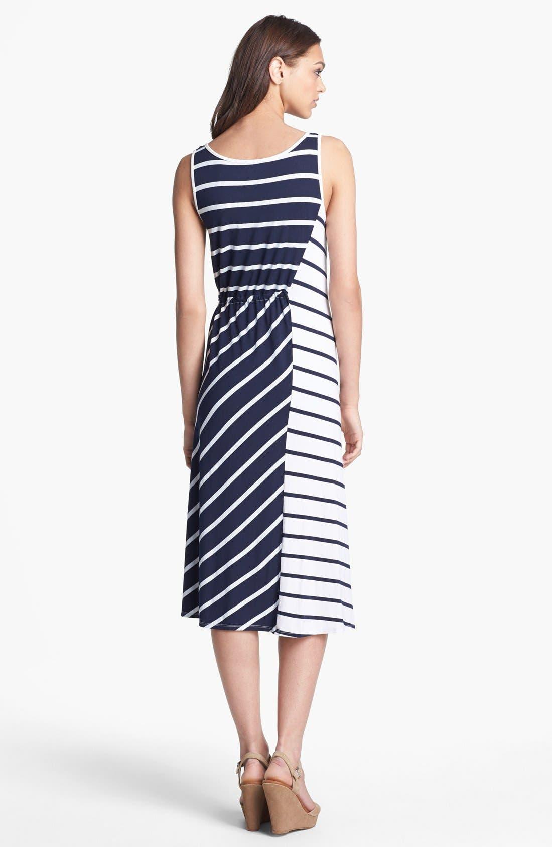 Alternate Image 2  - Three Dots Stripe Tank Midi Dress
