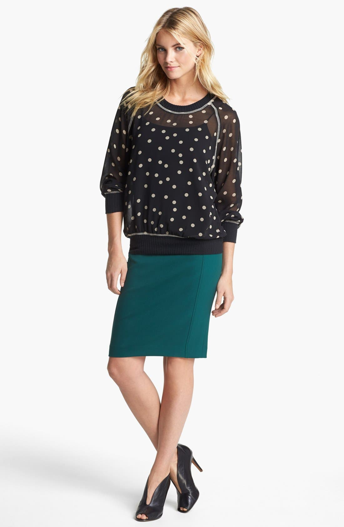Alternate Image 1 Selected - Olivia Moon Top & Halogen® Pencil Skirt