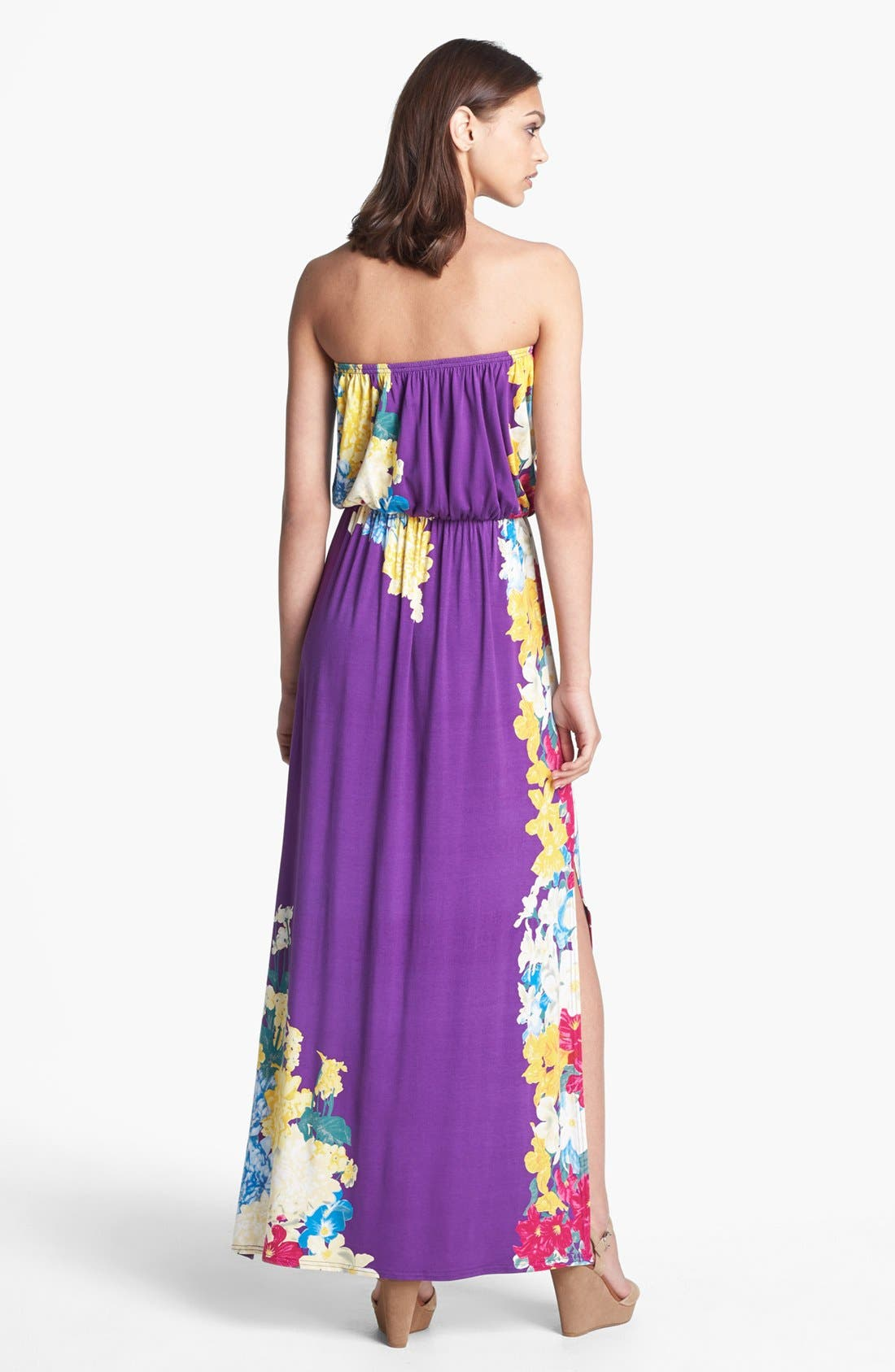 Alternate Image 2  - Felicity & Coco Print Jersey Maxi Dress (Regular & Petite) (Nordstrom Exclusive)