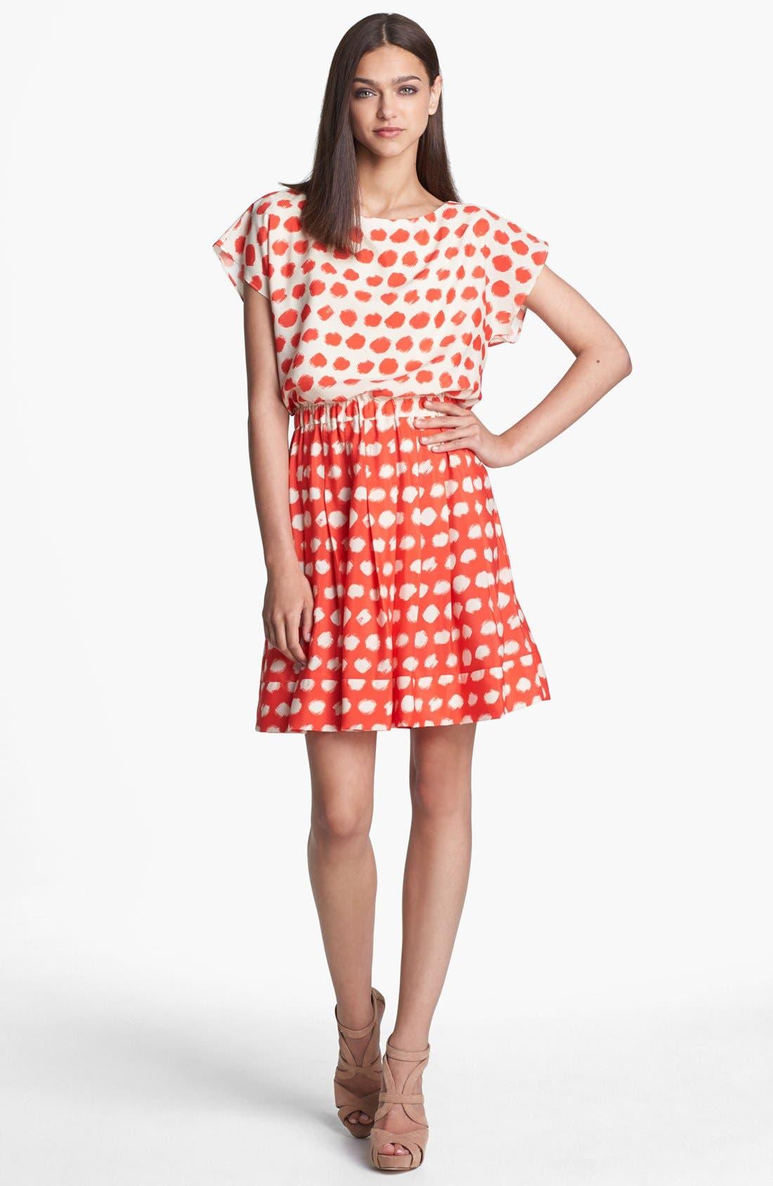 Main Image - Eliza J Print Blouson Dress