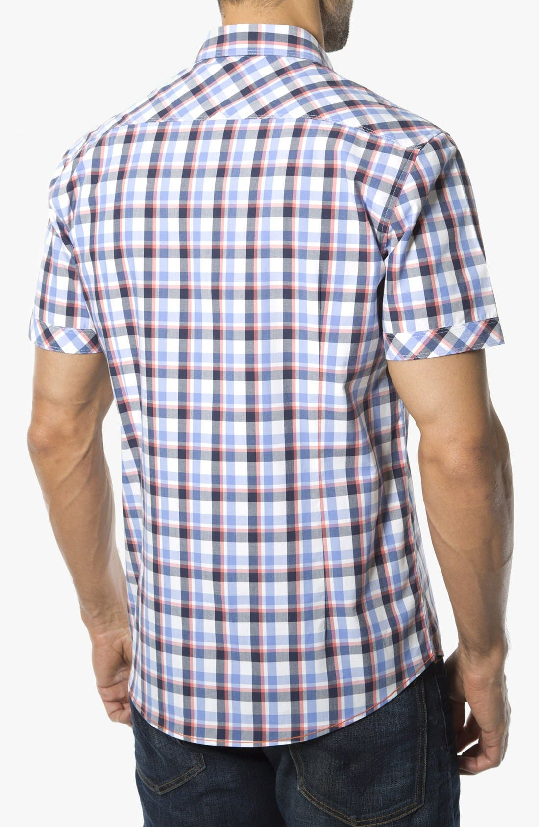 Alternate Image 2  - 7 Diamonds 'Quick Exit' Woven Short Sleeve Shirt