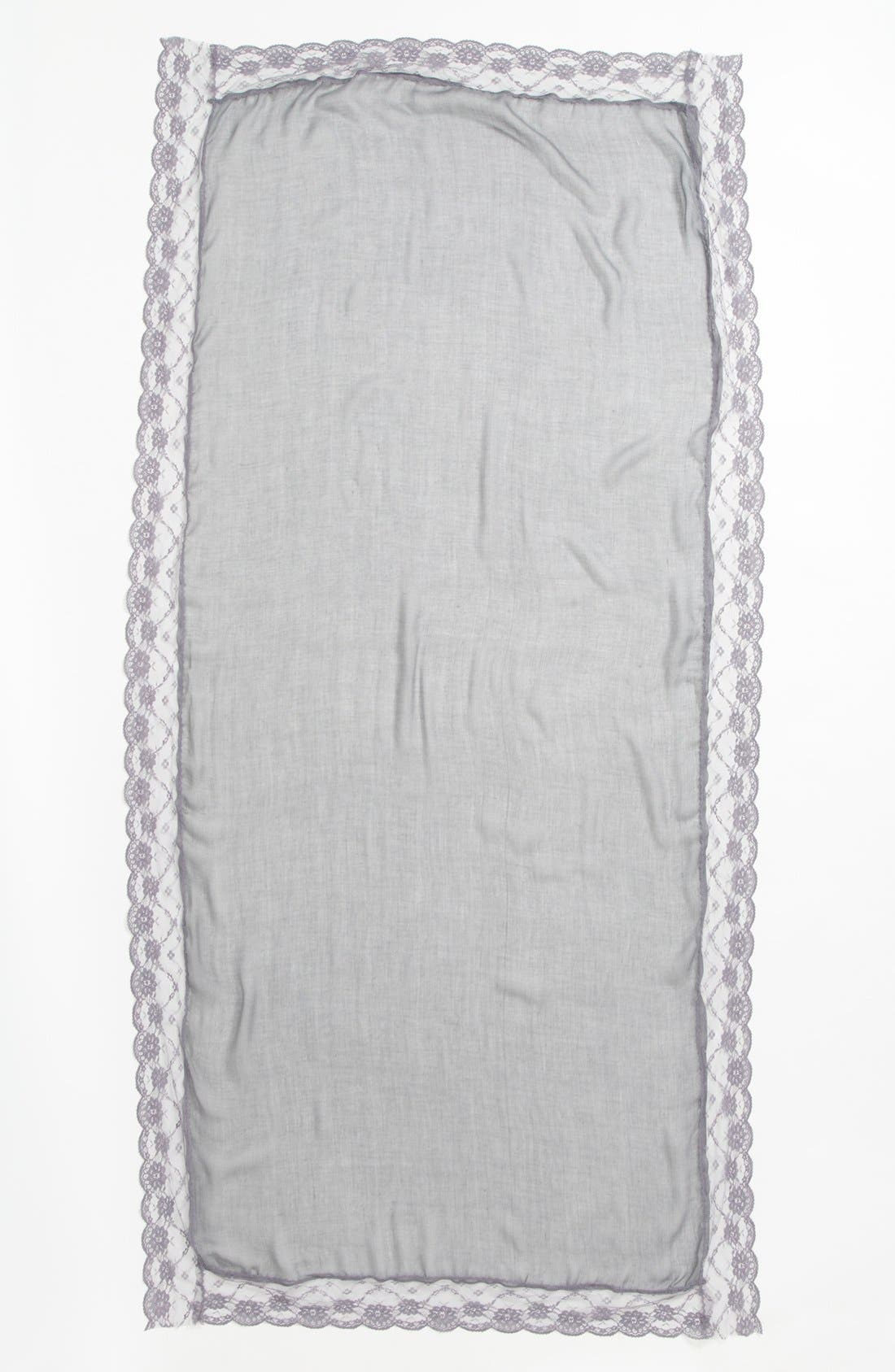 Alternate Image 2  - Tildon Lace Border Scarf