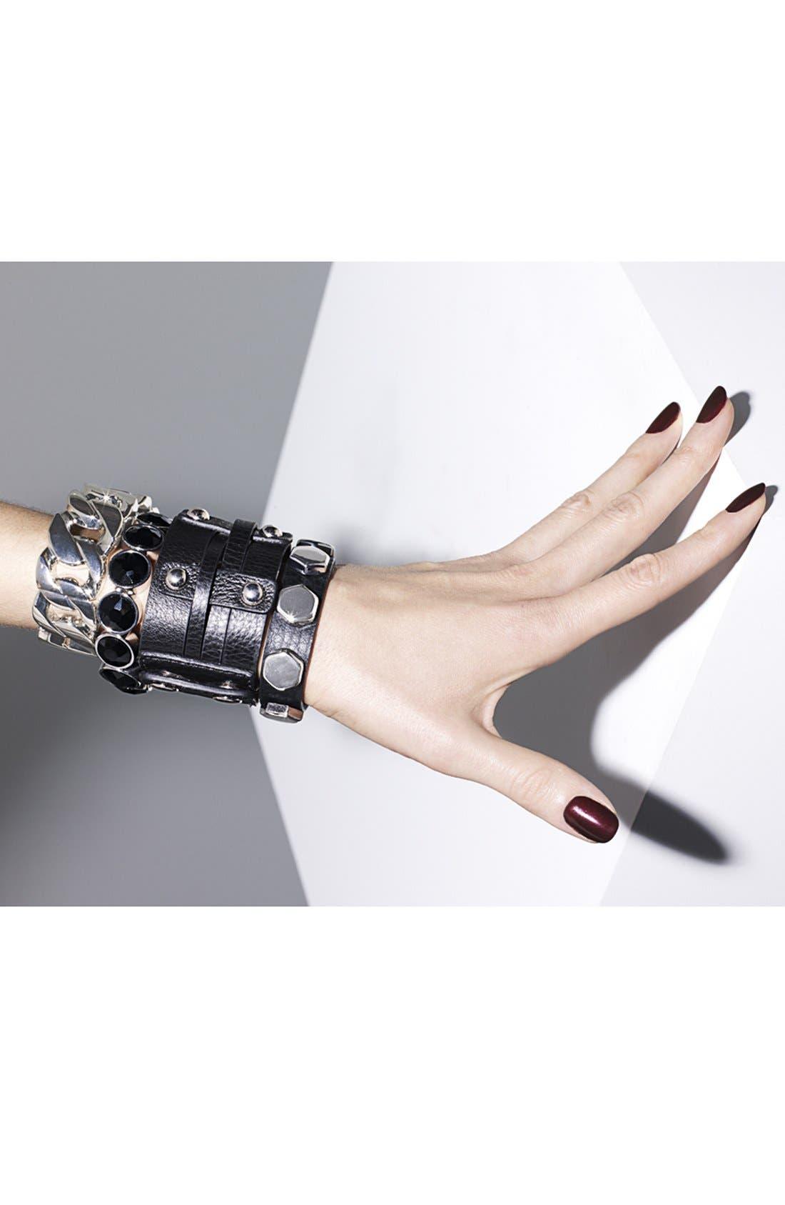 Alternate Image 3  - Lydell NYC Crystal Stretch Bracelet