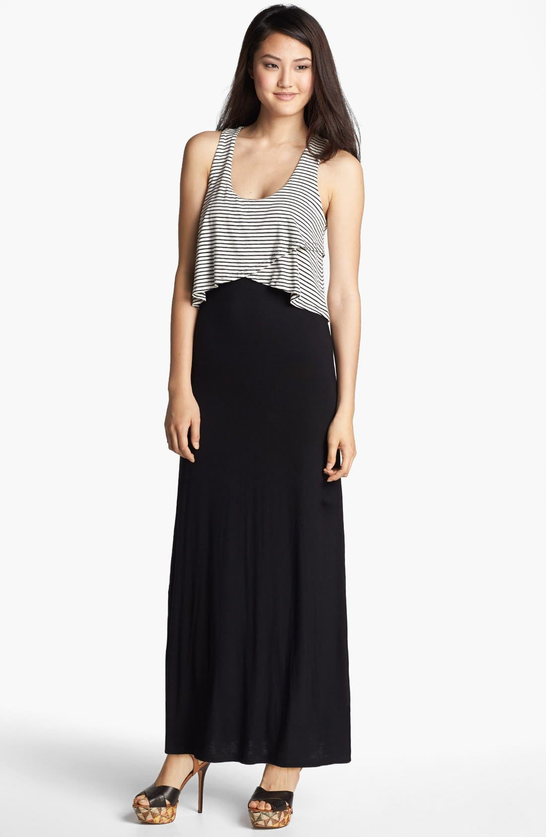 Alternate Image 1 Selected - Everleigh Overlay Top Maxi Dress