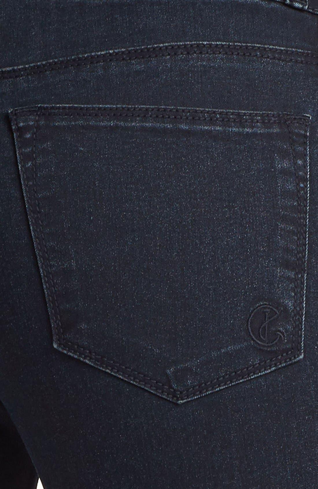 Alternate Image 3  - CJ by Cookie Johnson Track Stripe Skinny Jeans