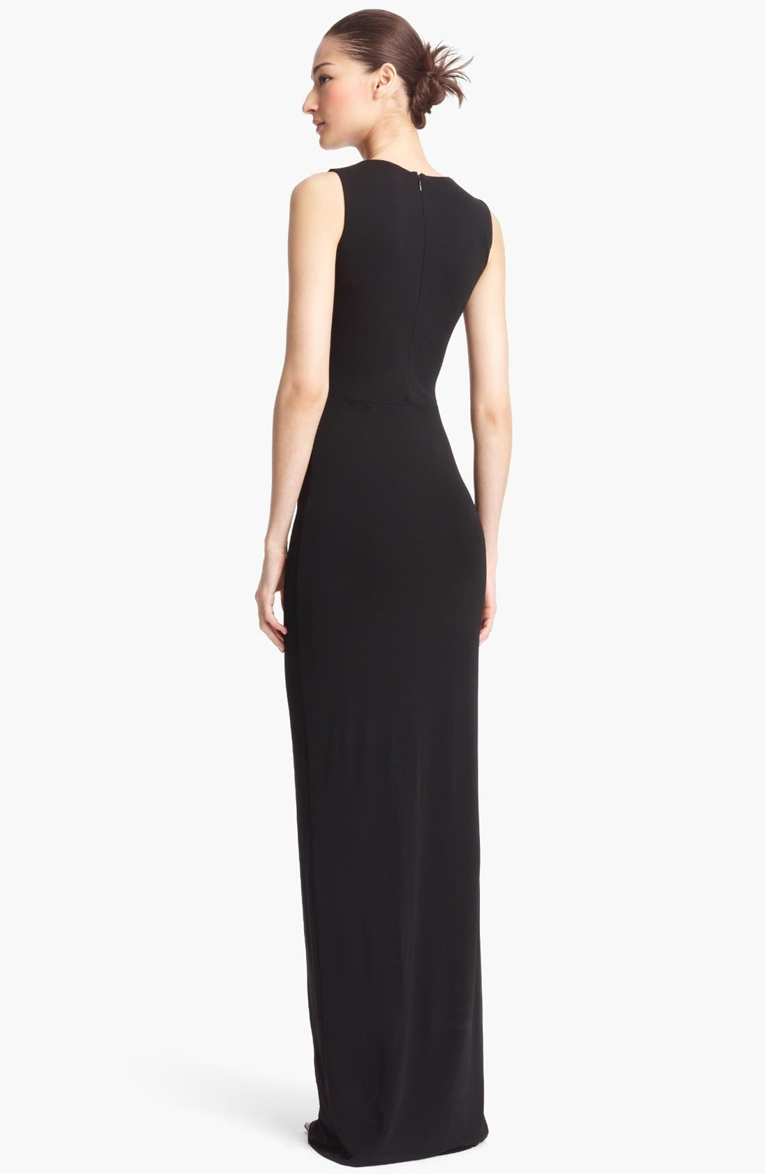 Alternate Image 2  - Michael Kors Sleeveless Ruched Jersey Gown