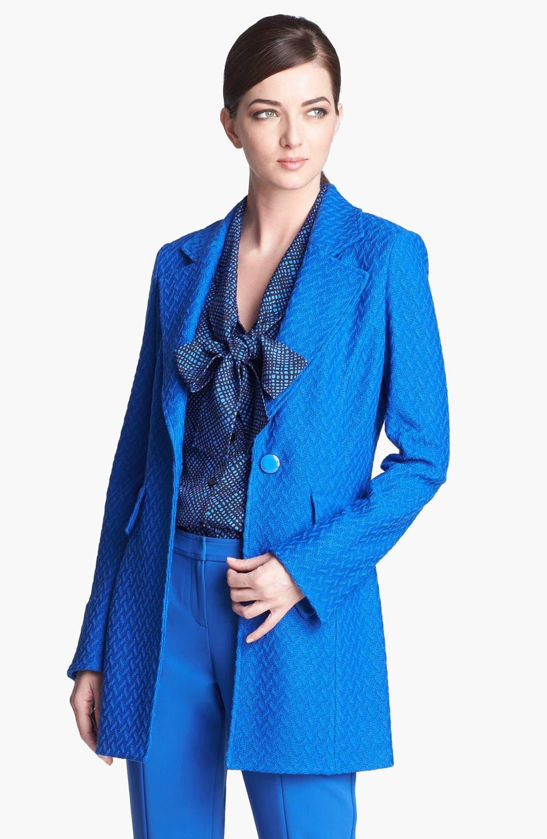 Main Image - St. John Collection Long Twist Tweed Jacket