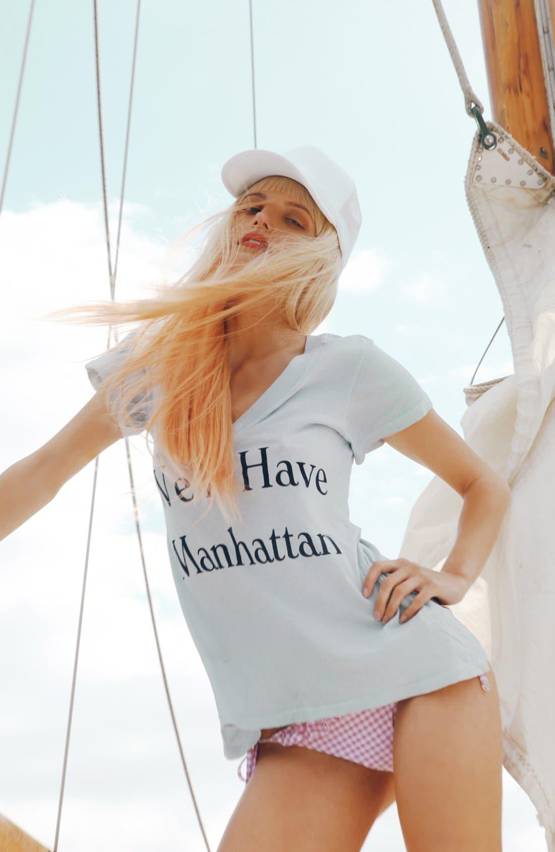 Alternate Image 4  - Wildfox 'Manhattan' V-Neck Tee (Nordstrom Exclusive)