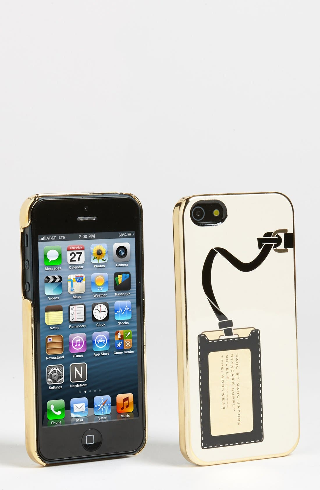 Alternate Image 1 Selected - MARC BY MARC JACOBS 'Metallic Heathrow' iPhone 5 & 5S Case
