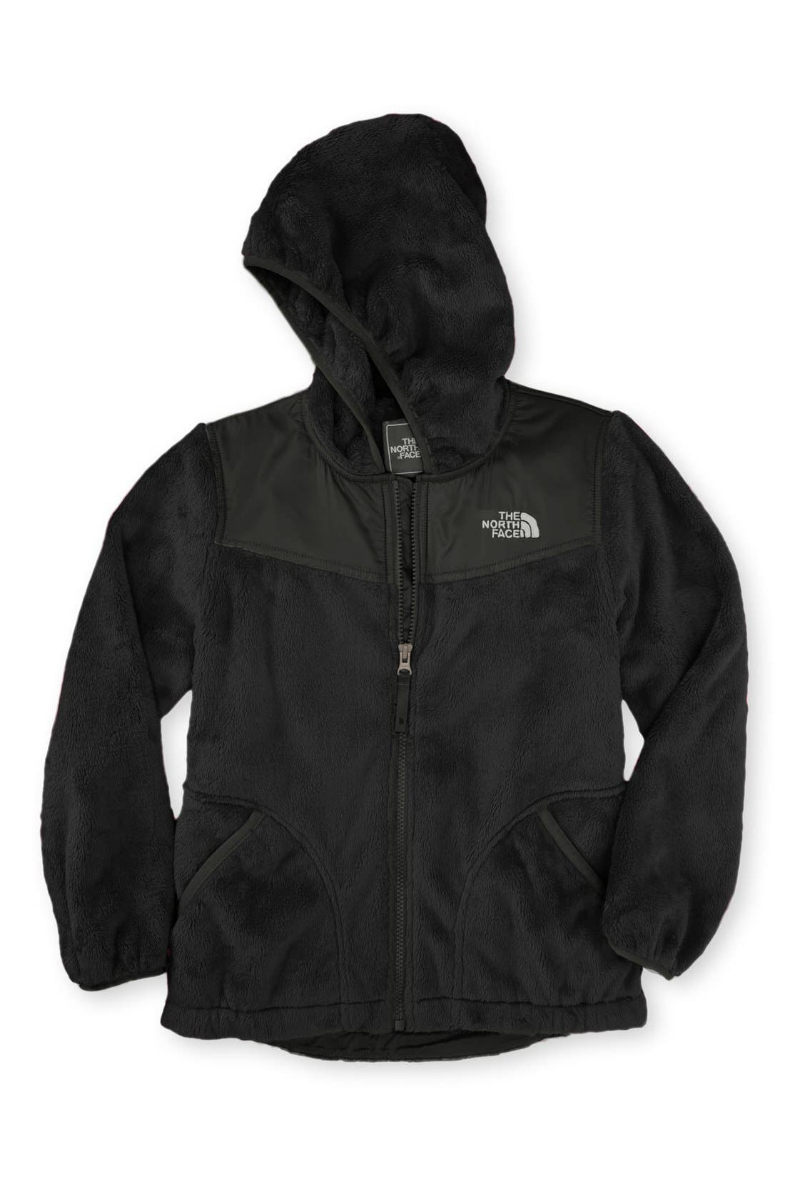 Alternate Image 1 Selected - The North Face 'Oso' Plush Fleece Hooded Jacket (Big Girls)