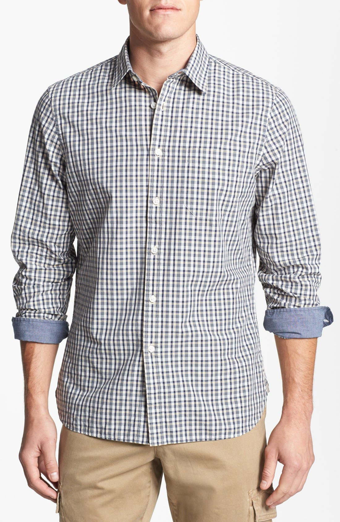 Main Image - Wallin & Bros. Trim Fit Poplin Sport Shirt