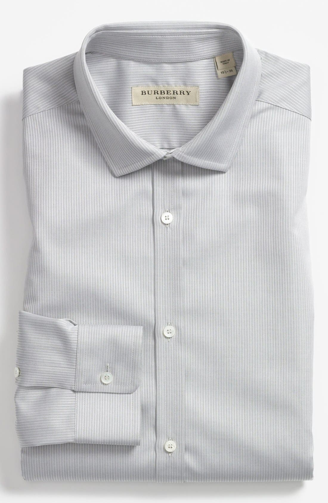 Alternate Image 1 Selected - Burberry London Stripe Tailored Fit Dress Shirt