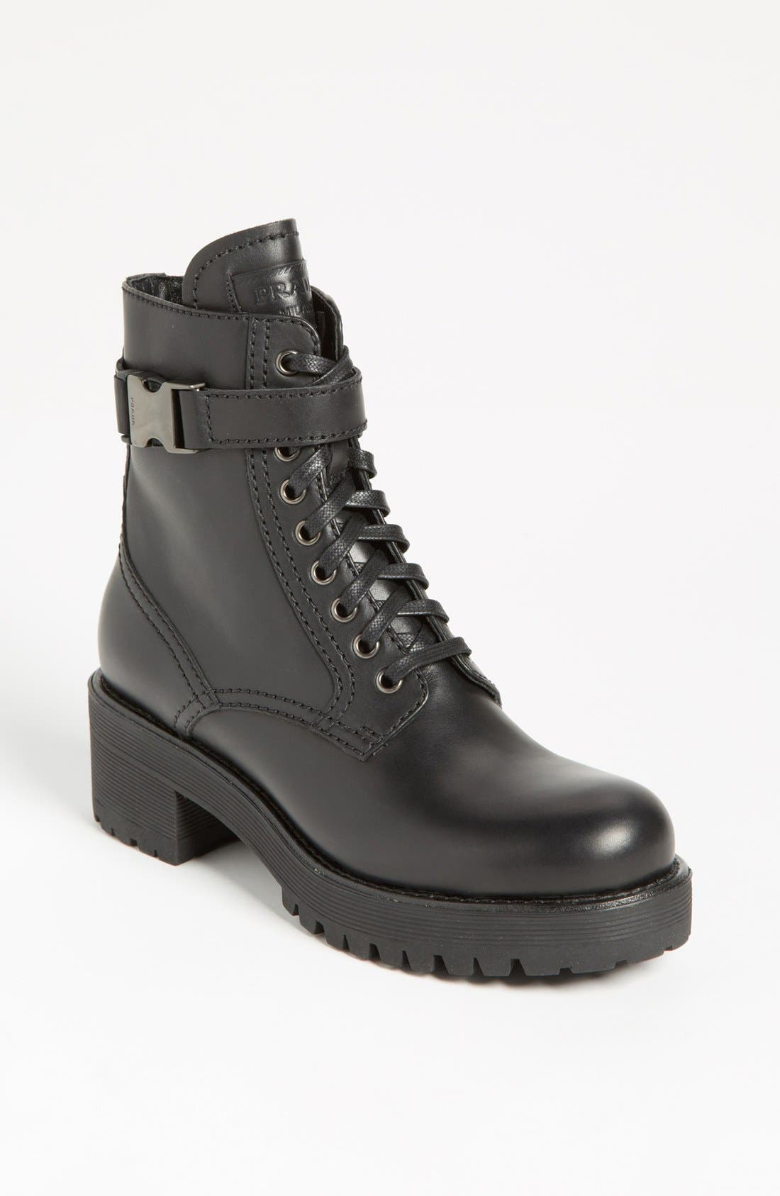 Alternate Image 1 Selected - Prada Short Moto Boot