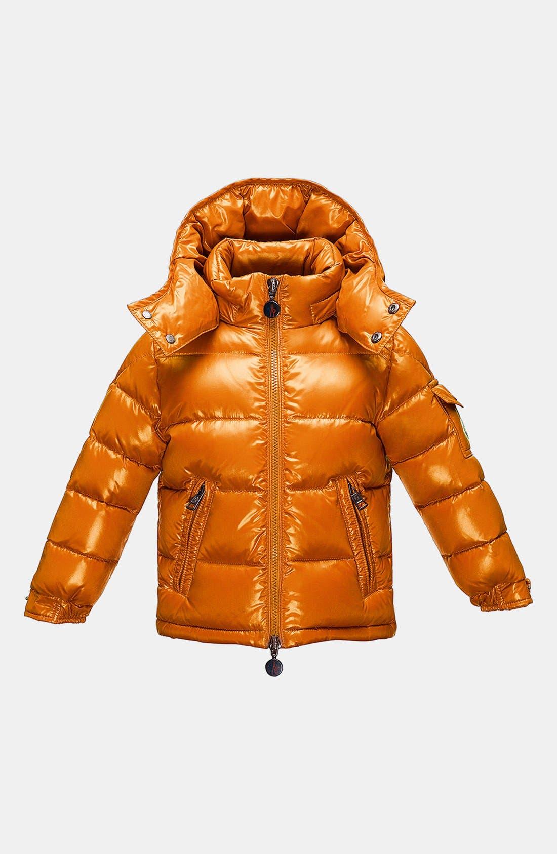 Main Image - Moncler 'Maya' Hooded Down Jacket (Little Boys & Big Boys)