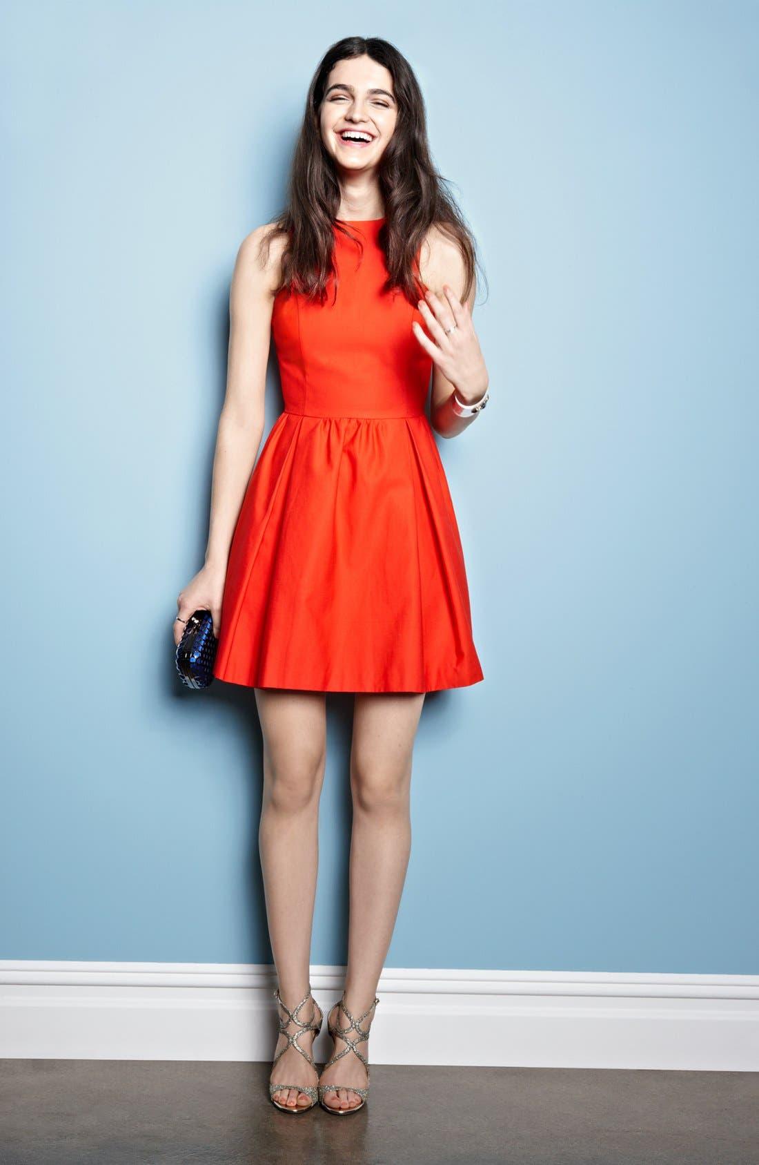 Alternate Image 1 Selected - BB Dakota Cotton Dress & Accessories