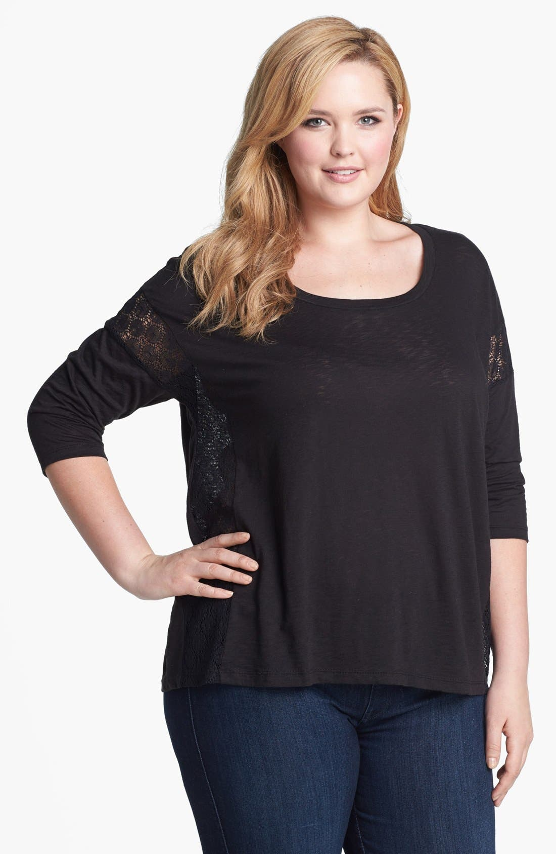 Alternate Image 1 Selected - Splendid 'Chic' Cotton Tee (Plus Size)