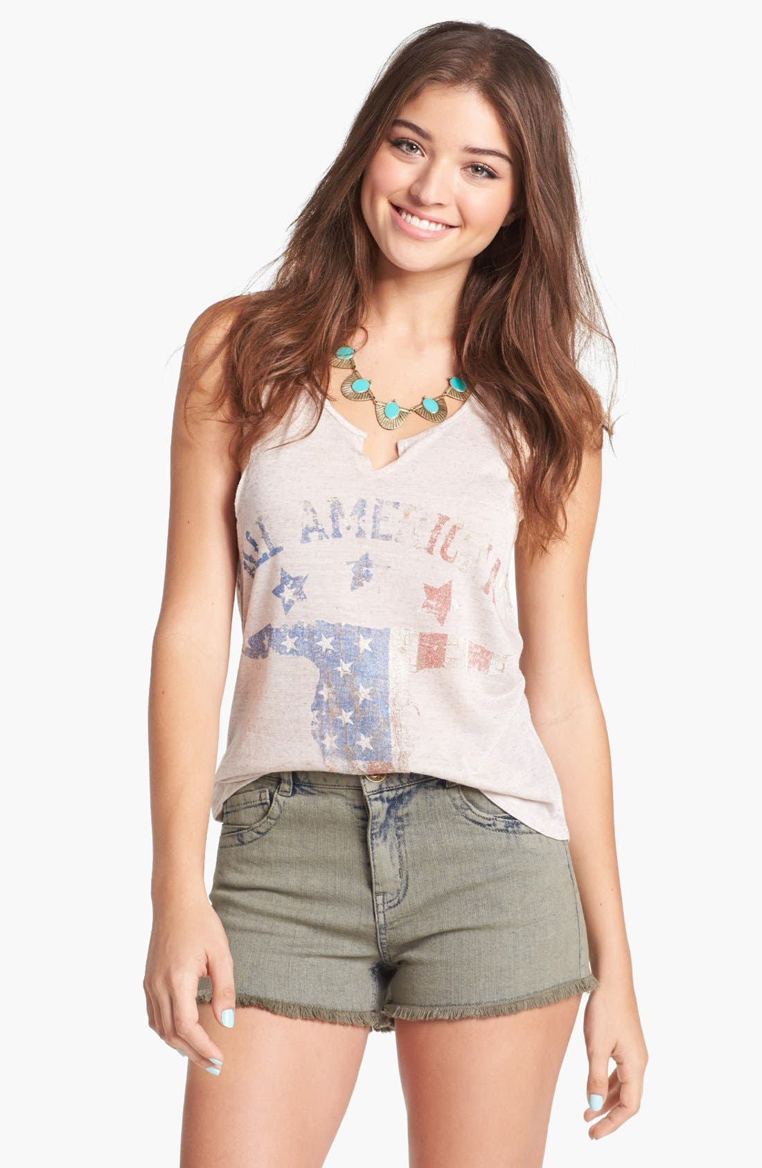 Main Image - Living Doll 'All American' Graphic Tank (Juniors)