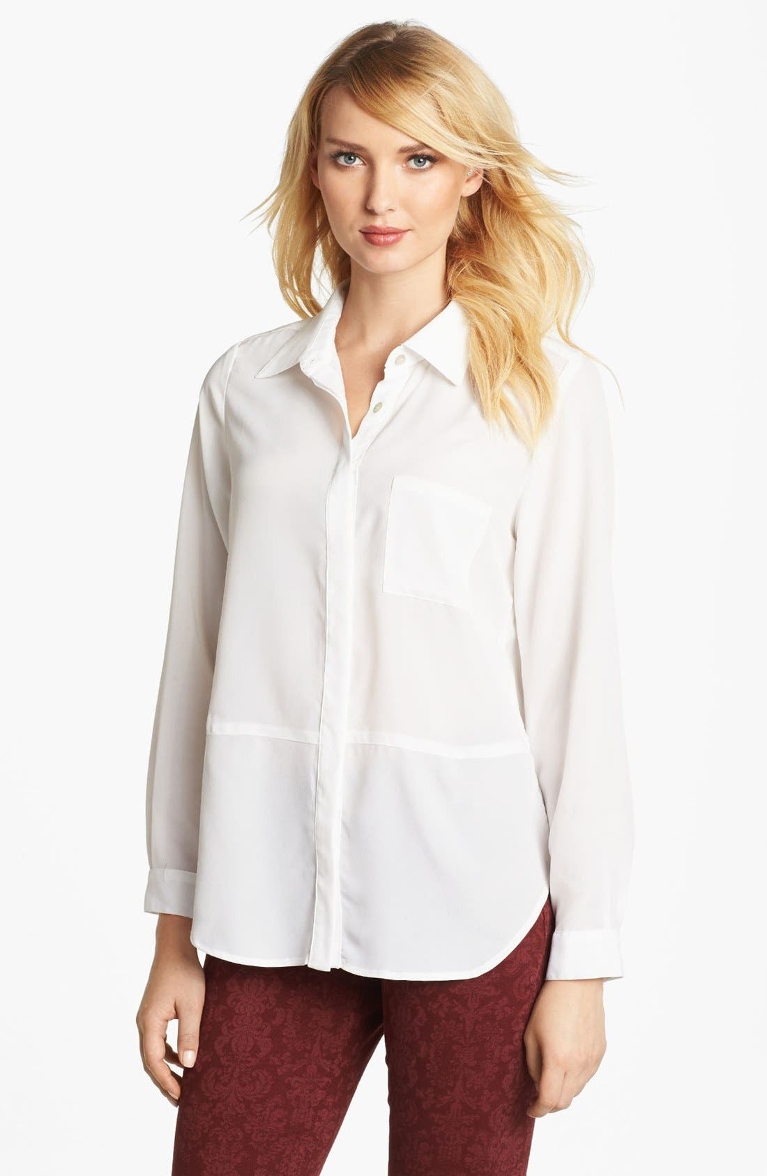 Alternate Image 1 Selected - Fever High/Low Blouse