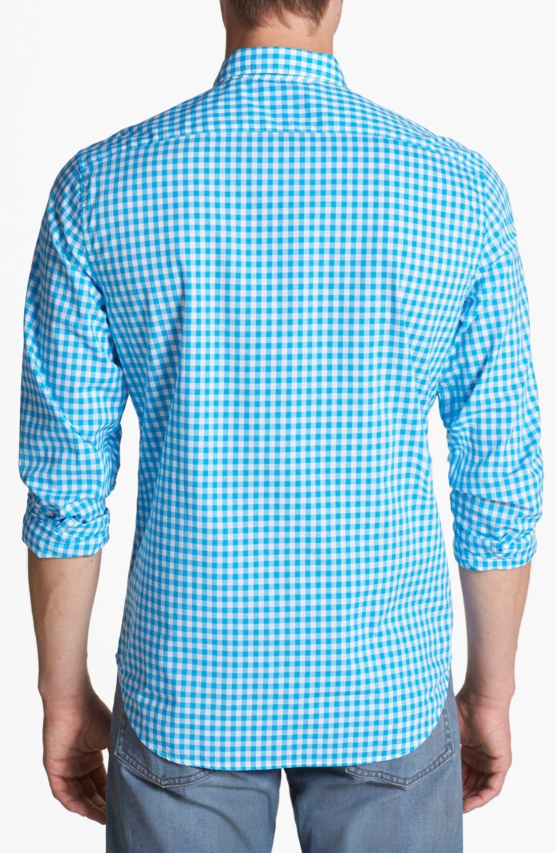 Alternate Image 2  - Burberry Brit 'Adken' Gingham Trim Fit Cotton Sport Shirt