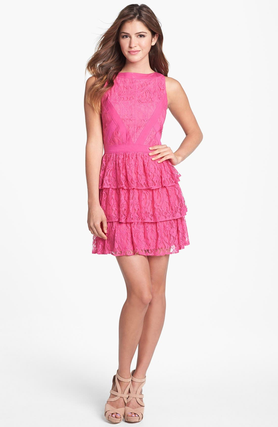 Alternate Image 1 Selected - Keepsake the Label 'Oceans Burning' Tiered Lace Dress